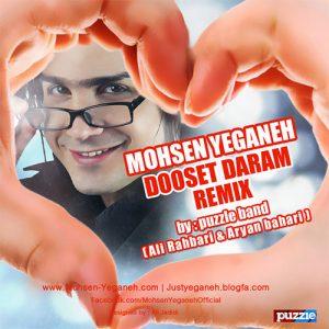 Mohsen Yeganeh Dooset Daram Puzzle Band Remix 300x300 - دانلود ریمیکس آهنگ محسن یگانه به نام دوست دارم