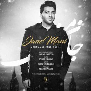 Mohammad Zand Vakili Jane Mani 300x300 - دانلود آهنگ جدید محمد زند وکیلی به نام جان منی
